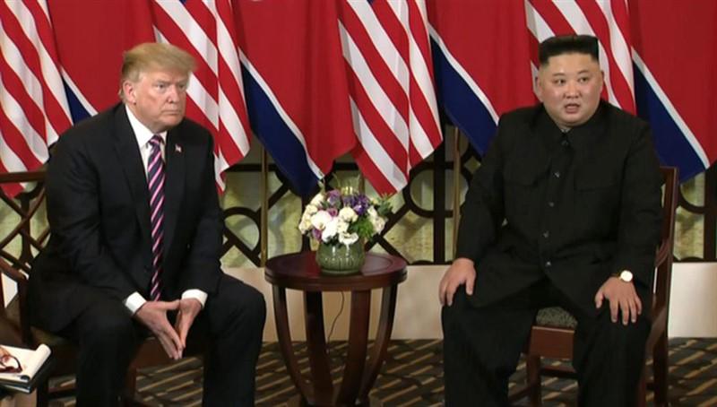 США Дональд Трамп и лидер КНДР Ким Чен Ын