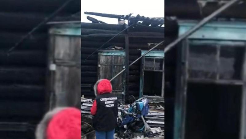 Место пожара в частном доме в Мариинске