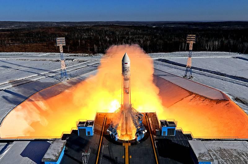 Запуск ракеты с Восточного