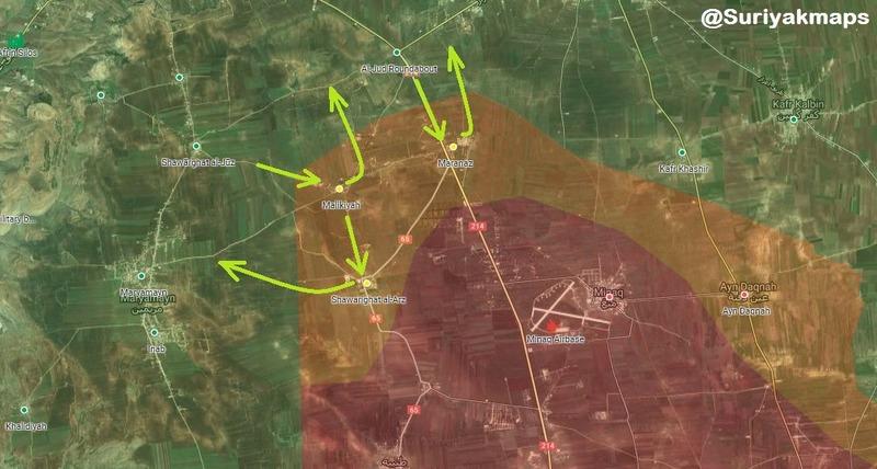Сирия карта Таль-Рифате