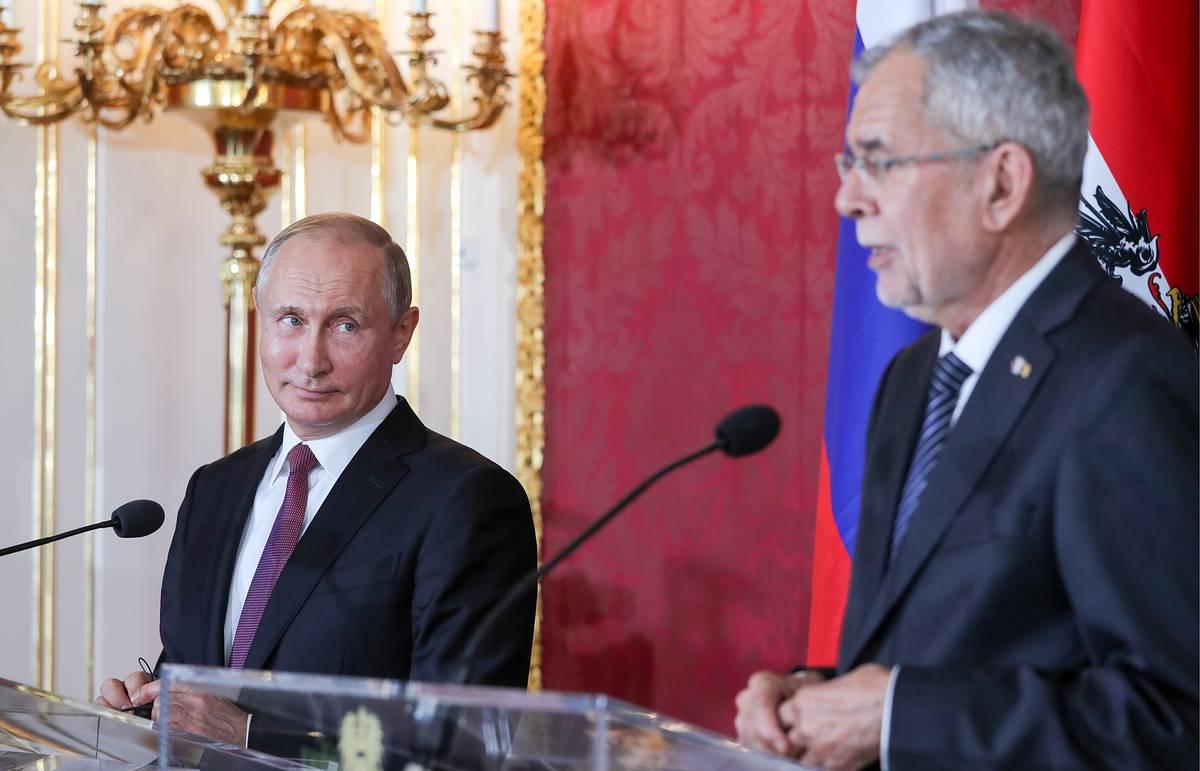 Путин и Ван дер Беллен
