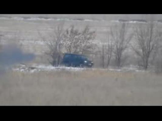 Серия роликов «И вновь продолжается бой» Поражение джипа ВСУ противотанковой ракетой