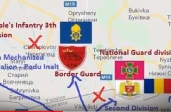 Карта нападения Румынии на Украину