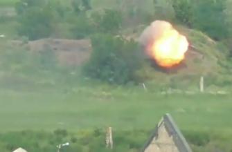 Видео применения боевиками ВСУ ПТРК по территории ДНР