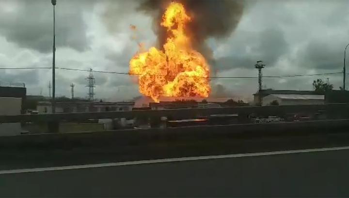 Столб огня 50 метров: в Мытищах горит электростанция. ТЭЦ-27 отключился энергоблок