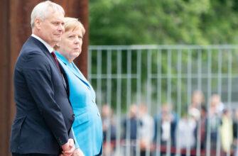Меркель снова трясет, на этот раз с премьер-министром Финляндии