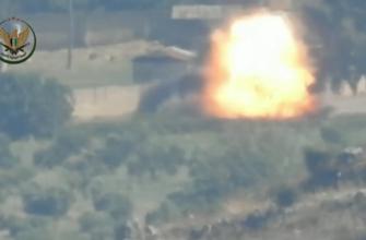 Боевики в Сирии показали обстрел Урала-4320 из ПТРК