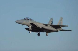Показано уничтожение беспилотника иранского производства самолётом F-15 саудовских ВВС