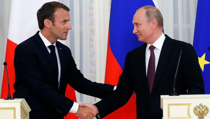 """Макрона призвали поладить с Путиным, """"не дожидаясь Трампа"""""""