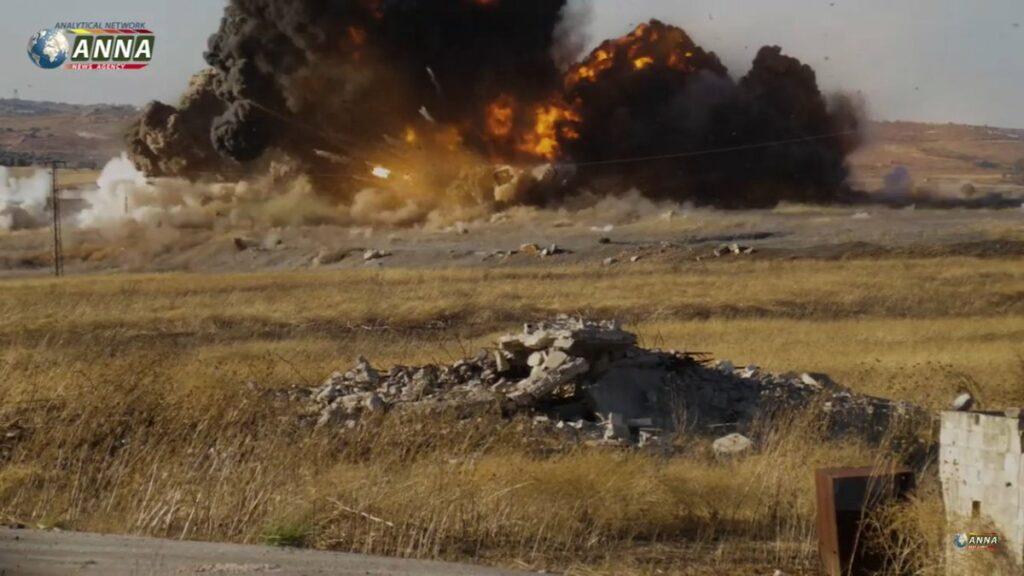 Видео от Anna-News посвященное развалу обороны боевиков в западной части Эль-Латаминского выступа