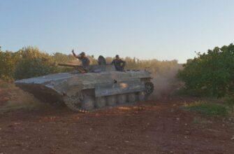 По утверждению военкора Anna-News лучшим средством передвижения по Сирийской земле является БМП-1