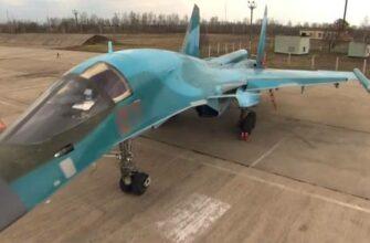 Появилось фото с повреждениями Су-34 после столкновения