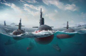 Максимальная глубина погружения подводных лодок России, США и Японии