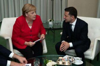 Лицемер Зеленский провел телефонный разговор с Меркель