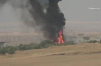 "Курды удачно заПТУРили турецкий танк ""Леопард 2"" в районе Таль-Абьяда"