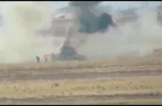 Уничтожение курдского Хаммера из ПТРК протурецкими боевиками