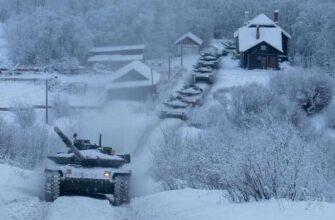 Танки Т-80БВМ Северного флота напугали норвежскую армию
