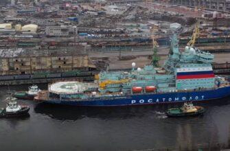 """Головной ледокол проекта 22220 """"Арктика"""" закончил первый этап испытаний"""