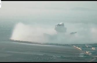 Взрыв ОДАБ-500П ( объёмно-детонирующая авиабомба) в Сирии