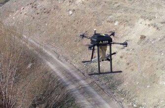 Работа турецкого ударного беспилотного квадрокоптера Songar