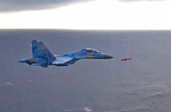 Су-27 Незалежной сопроводил крылатую ракету комплекса «Нептун»