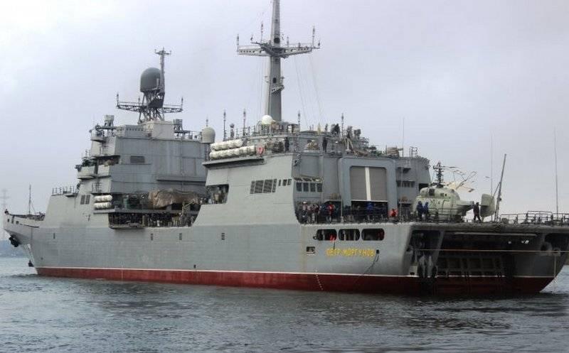 БДК «Пётр Моргунов» проекта 11711 продолжил испытания в Балтийском море