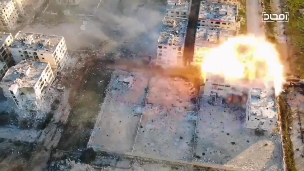 Боевики применили заминированный БМП против армии Асада