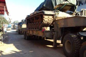 Турция перебрасывает в сирийский Идлиб танки и другую бронетехнику