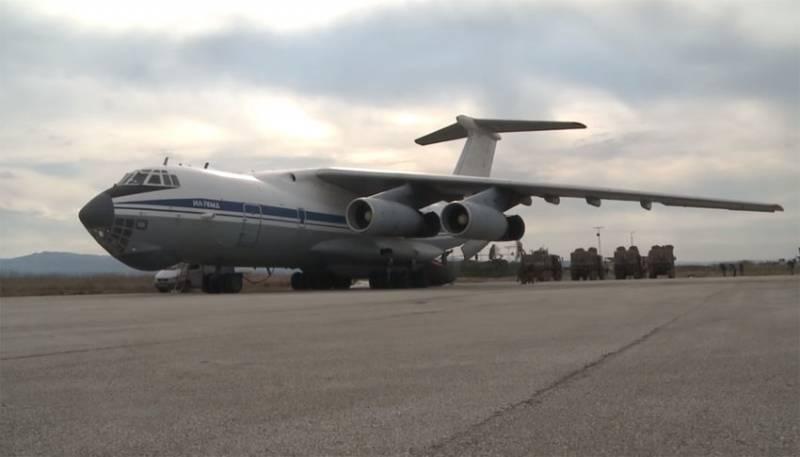 В сети сообщают о приземлении нескольких военных транспортников Ил-76 на базе «Хмеймим»