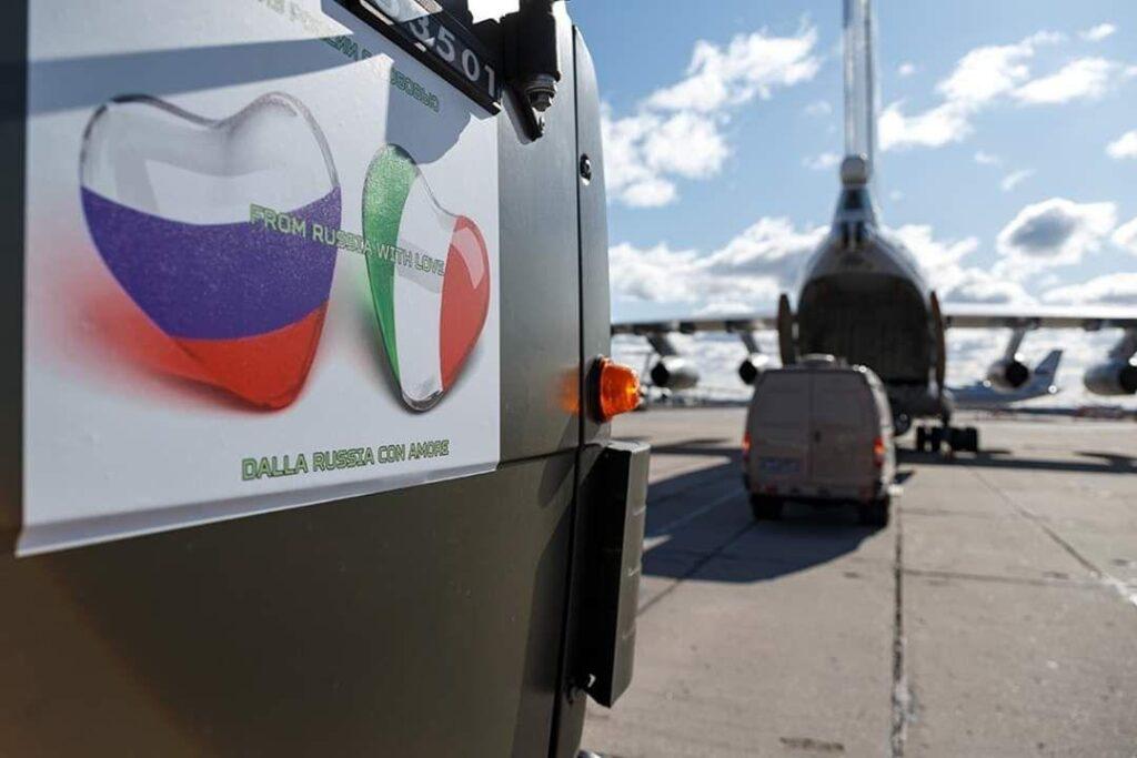 Нет ничего странного в том, что не НАТО, не ЕС, а русские идут на помощь Италии