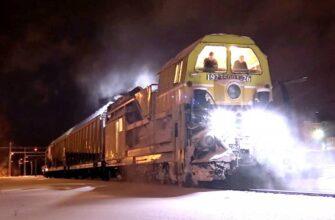 Российский снегоуборочный поезд впечатлил финнов