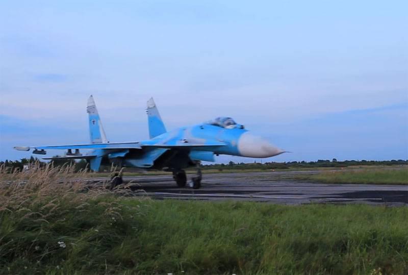 Продолжаются поиски лётчика упавшего в Чёрное море Су-27