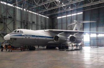 Очередной серийный Ил-76МД-90А после покраски передан на испытания