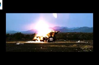Стрельба из гаубицы M109 Paladin, XM 1299 боеприпасом Excalibur, и снарядом XM1113