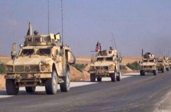 Колонна американской техники сожжена по дороге на базу в Ираке