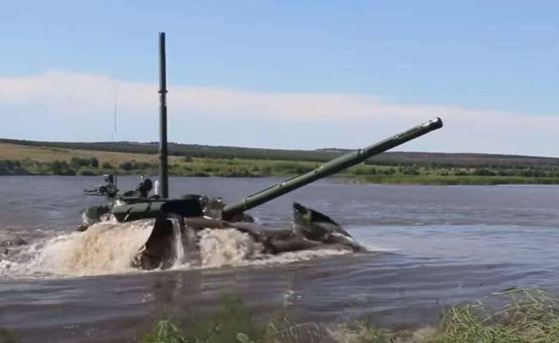 Аргентинских журналистов впечатлило подводное вождение российских танков Т-72Б3