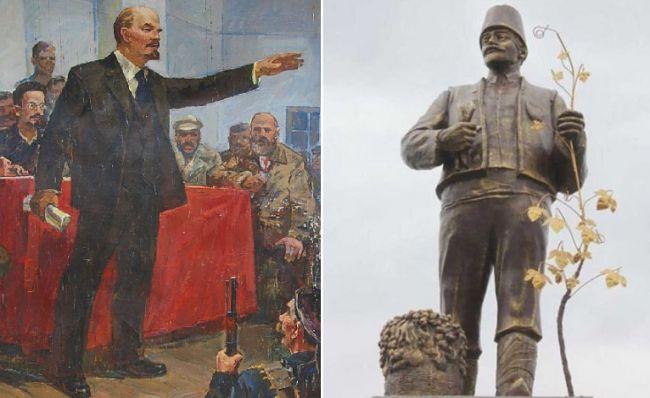 Декоммунизация: Под Одессой памятник Ленину переделали в статую болгарского переселенца