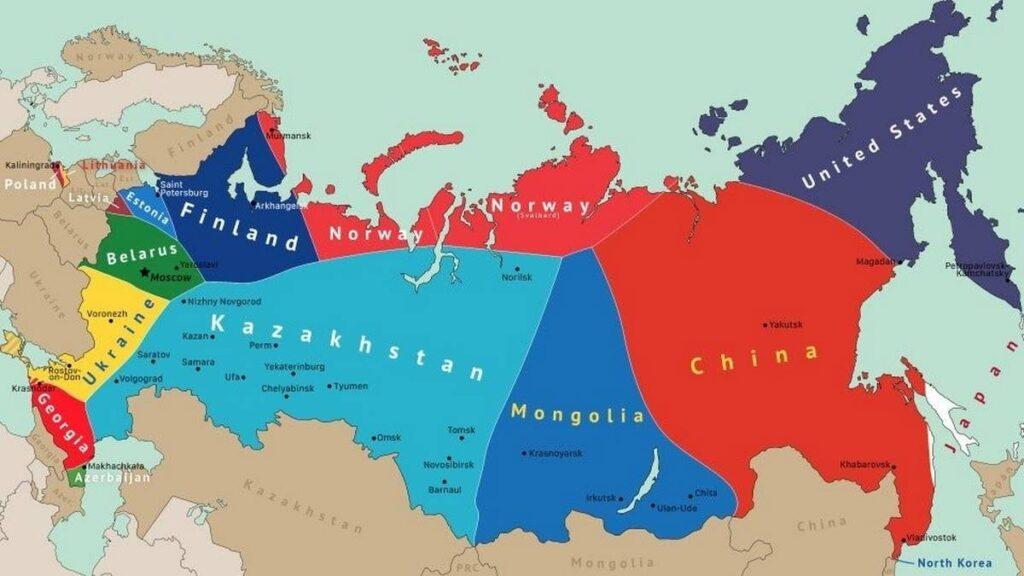 В России отреагировали на опубликованную в Европе карту раздела нашей страны