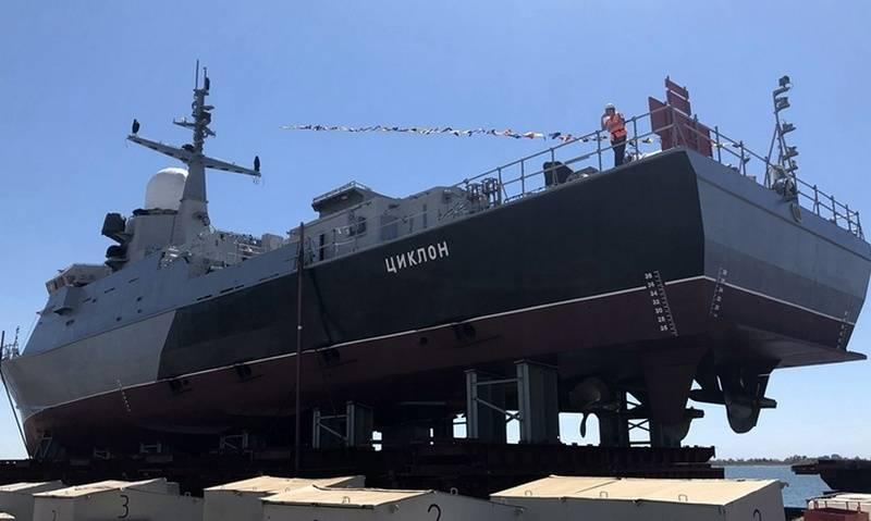 В Крыму спустили на воду МРК проекта 22800 «Циклон»