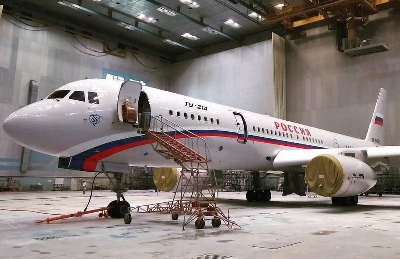 В Казани построен второй самолёт Ту-214ПУ для СЛО «Россия»