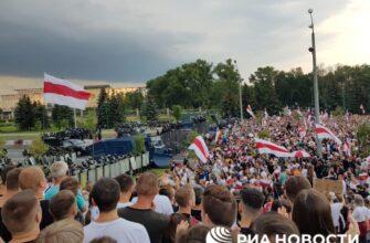 22 день протестов в Белоруссии