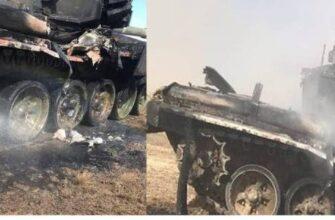 В сети появились снимки танка Т-90 после попадания ПТУР на учениях под Астраханью
