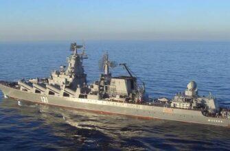 Флагман ЧФ крейсер «Москва» впервые вышел на учения после ремонта