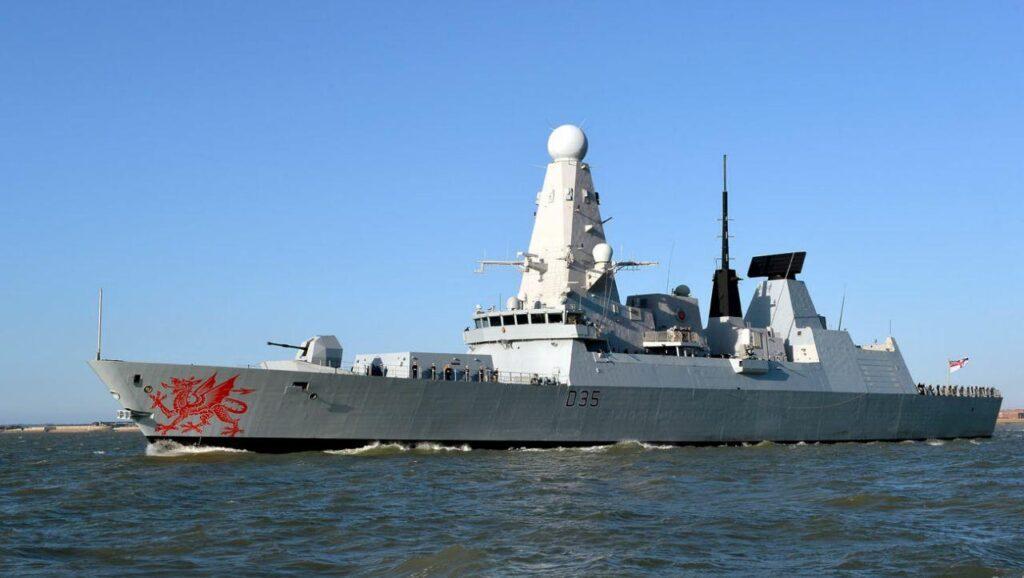 В Чёрное море вошёл британский эсминец